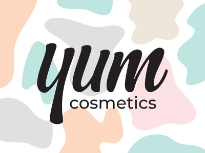 Yum Cosmetics body care skincareherbal skincare branding natural brand pattern packaging lettering logo pastel colors brand identity holistic beauty product organic vegan cosmetics