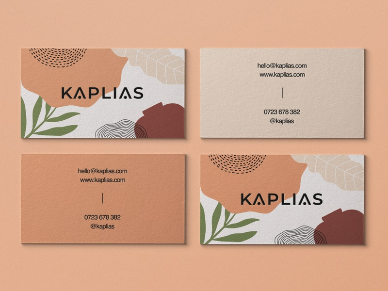 Kaplias - Busines Cards decor interiordesign nordic abstract botanicals illustration rustic logo wordmark business cards
