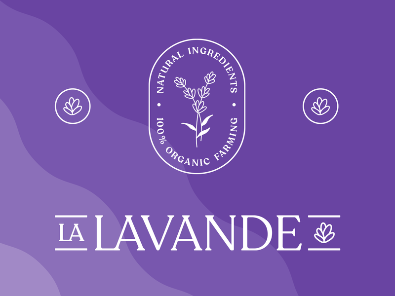 La Lavande Branding typedesign botanical logo lavender badge logotype emblem skincareherbal artisanal plant-based vegan organic natural cosmetics beauty packagingdesign branding logo skincare