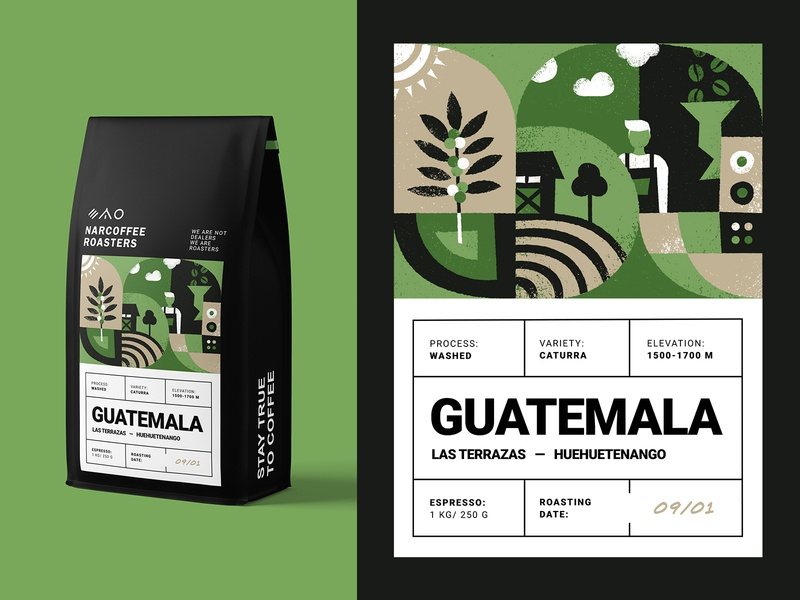 Coffee Packaging Details label drink coffee tree espresso coffee beans specialty coffee natural crop native barista plant farm roasters illustration packaging bag coffee bag