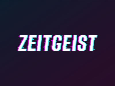 Zeitgeist Logo Treatment