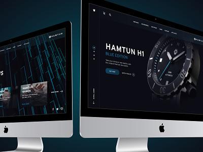 Hamtun Watches - Website UI Design watches diving dark user inteface user experience webdesign ui design ecommerce uidesign website