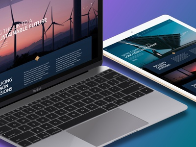 Blue Group - Website UI Design