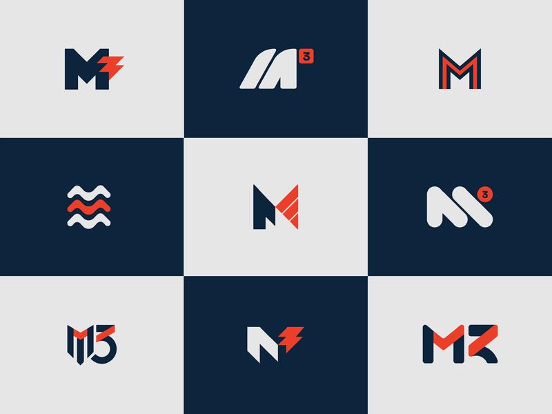 Initial M3 Concepts typography design monogram letter mark monogram letter m brand identity idenity brand and identity m3 mark initials logomark vector typography branding logo brand design