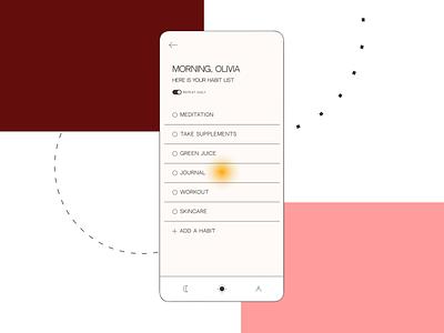 daily habits / mobile app animation mobile graphic design animation colors design userinterface mobileapp uiux ux ui