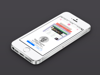 iOS 7 Dribbble App Concept app iphone ios7 concept minimal flatdesign