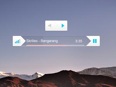 Music Player Concept ui web design music player spotify simple minimalistic