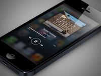 iOS music player widget minimalistic app concept widget ios ios 6 music player