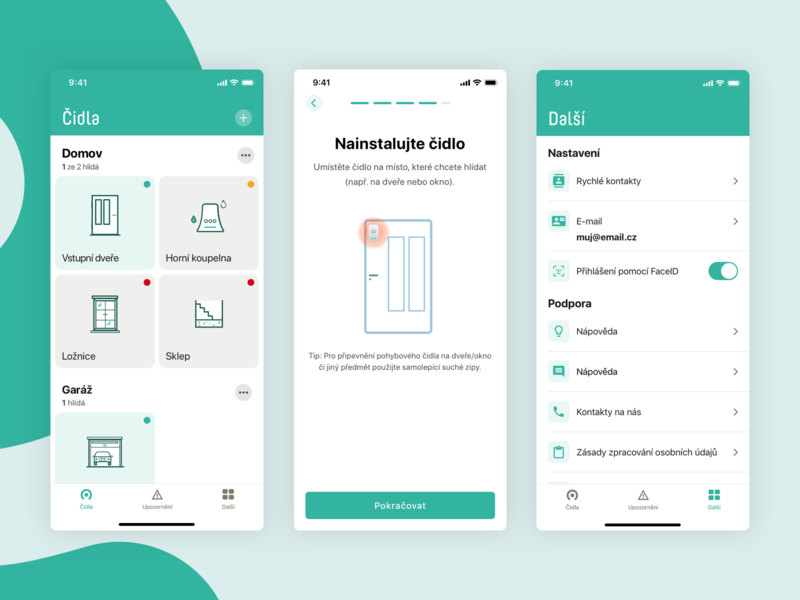 Direct echo - smart home app sensor settings app smart home ios app fields design ui kit user interface ux ui