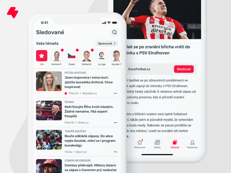 FlashSport - followed topics and article detail ios app application iphone app favorites sports design article detail article topics newsfeed news app news sport sports sports news app design user interface ux ui