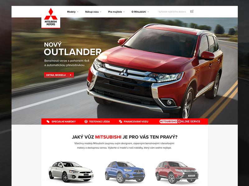Mitsubishi Motors contest (website) cars mitsubishi ui ux design web