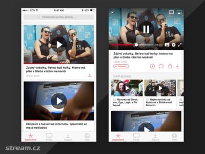 Stream.cz - new app concept concept video streaming service ios app stream