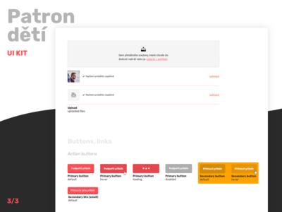 Patron dětí UI kit (3/3) states hover buttons upload documents documents upload fields ui kit user interface ui