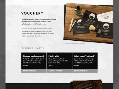 Barbershop Coupons Selection ui ux design selections coupons user interface microsite website sketch barbershop