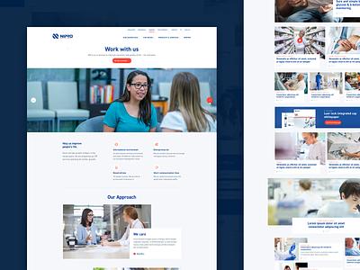 Nipro Europe vacancy careers health website nurses minimal branding web design design web magazine pharma ux uiux ui webdesign patients doctors diabetes healthcare