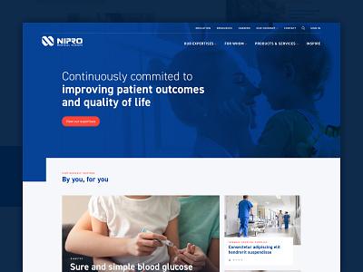 Nipro Europe magazine doctors diabetes pharma ux ui webdesign design web design medical nurses hospitals healthcare health