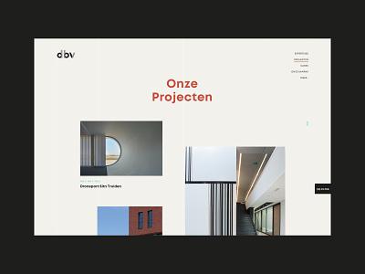 DBV Architecten belgium design ux uiux ui webdesign branding minimal photography architecture public space architect