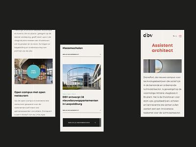 DBV Architecten ui ux design web design web branding minimal layout webdesign website design ui ux uiux public space belgium architect architectural architecture