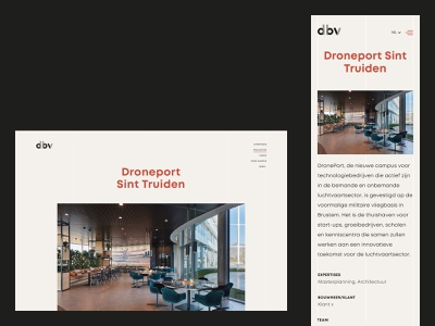 DBV Architecten architechture minimal public space architectural architect ui ux design web design layout web website ux webdesign ui design