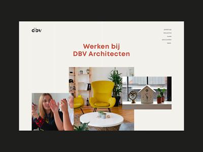 DBV Architecten branding architectural public space architect architecture minimal ui ux design web design layout web website ux webdesign ui design