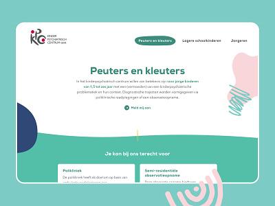 Kinderpsychiatrisch Centrum Genk web design layout web website design ux ui webdesign colorful illustration children child