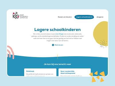 Kinderpsychiatrisch Centrum Genk illustration colorful child children minimal art direction ui ux design web design layout web website ux webdesign ui design
