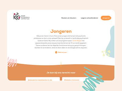 Kinderpsychiatrisch Centrum Genk ui design children child web website webdesign ux typography vector branding illustration ui design