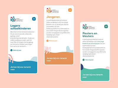 Kinderpsychiatrisch Centrum Genk mobile ui illustration child children art direction ui ux design web design layout web website ux webdesign ui design