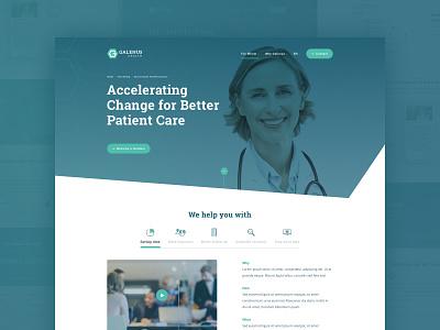 Galenus Health ui ux design web design layout web website ux webdesign ui design healthcare health