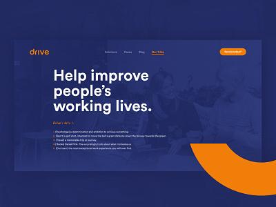 Dixon Drive ui ux design minimal website web layout web design design webdesign ux uiux ui customer experience webflow