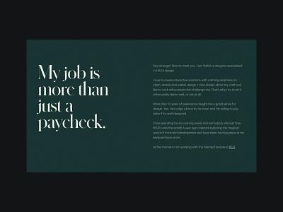 Stefan Oury - Portfolio web website ux webdesign ui layout web design webflow design typography minimal portfolio