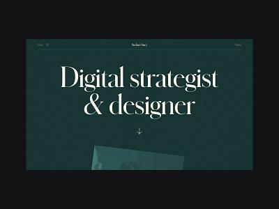 Stefan Oury - Portfolio layout web ux ui webdesign minimal web design website design portfolio typography webflow
