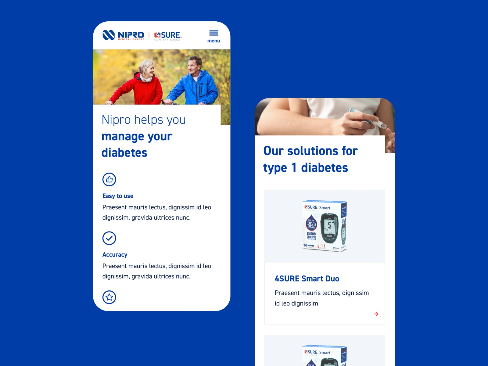 Nipro Diabetes Care by Stefan Oury on Dribbble