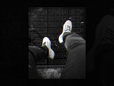 Nike Zoom EXP Poster water grey blackwhite photography photo sneaker nike typography typo poster