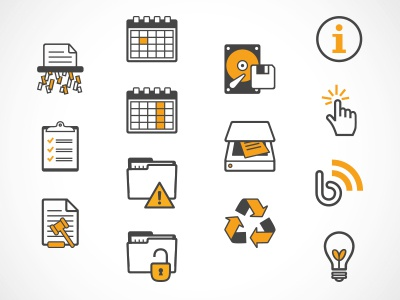 Icons icons paper shredding