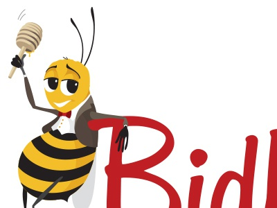 Dapper Bee Logo bee logo auctioneer