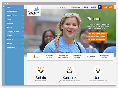 The Arthritis Society responsive web design web