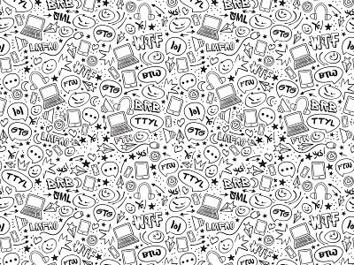 Anti-cyberbullying Pattern anti-cyberbullying illustration pattern