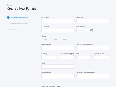UI Design Snapshot form dashboard software design ui design