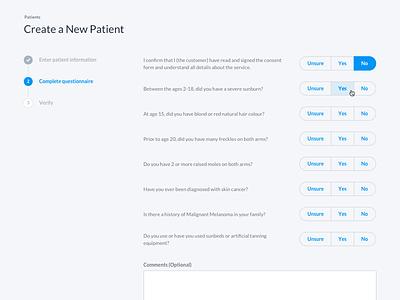 UI Design Snapshot toggle form dashboard software design ui design