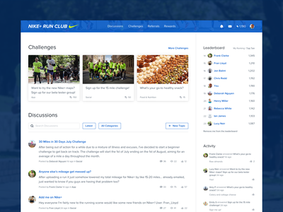 Community Landing Page activity leaderboard discussions challenges landingpage saas community