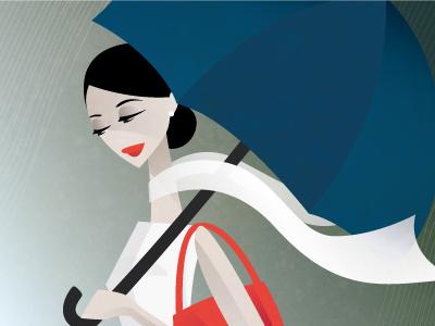Rain rain go away... illustration rain girl umbrella