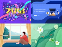 My Top4Shots on Dribbble from 2018
