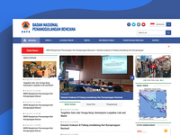 Redesign bnpb - Landing Page Government