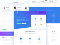 Landing Page Concept for Bulmastyle