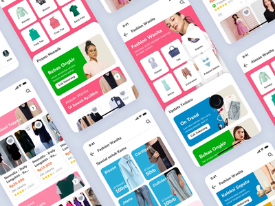 Tokopedia Fashion Page fashion app fashion design fashion onboarding interaction e-commerce iphone x mobile ios exploration apps ux ui