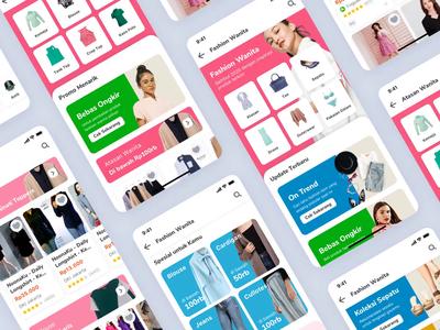 Tokopedia Fashion Page fashion app fashion design fashion onboarding interaction e-commerce iphone x mobile ios exploration apps ux ui