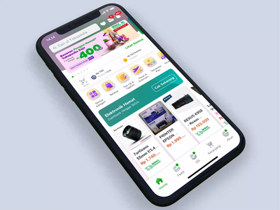 Tokopedia Fashion Flow shopping app online shopping discovery category page fashion app landing page interaction e-commerce iphone x mobile ios exploration apps ux ui