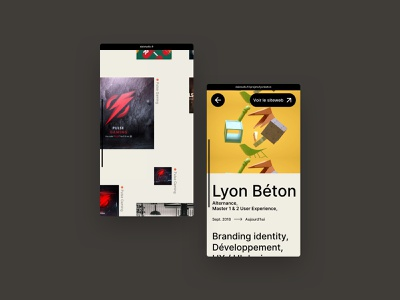 Daistudio 2020 Mobile app design brutalism app flat website webdesign ux ui logo daistudio.fr graphicdesign freelancer