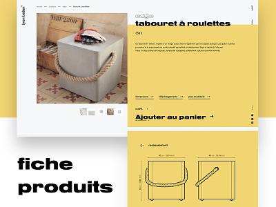 Web Fiche Produit website flat graphicdesign web ux ui logo design daistudio.fr branding webdesign lyon freelancer